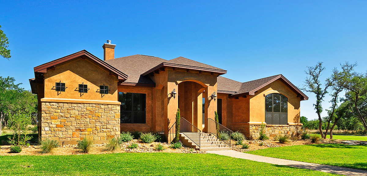 Portfolio of custom homes exterior pictures central texas for Home builders in killeen texas
